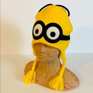 Despicable Me   Yellow Minion Knit Fleece Beanie